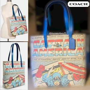 ❗️LAST  ONE❗️COACH Captain America Tote Canvas Bag